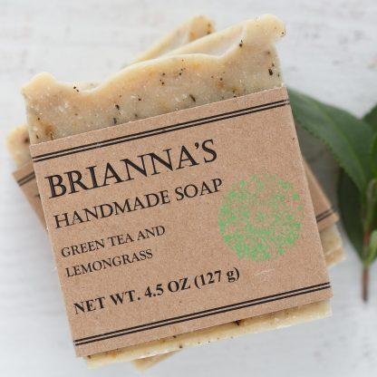 green tea lemongrass soap