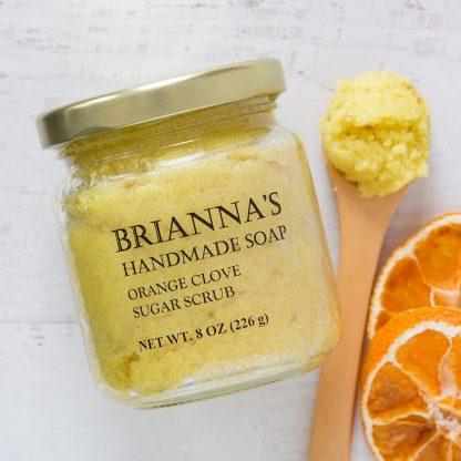 orange clove sugar scrub